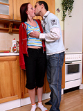 Stunning teen chick is fucked very well right in the kitchen