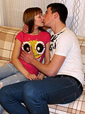 Pretty teen girl and handsome henchman have wonderful intercourse
